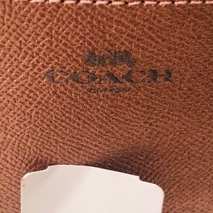 Coach pink shimmer zipper make up bagNWT